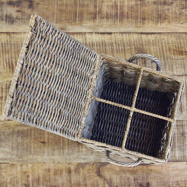 Keukenmandje vierkant met 4 vakken