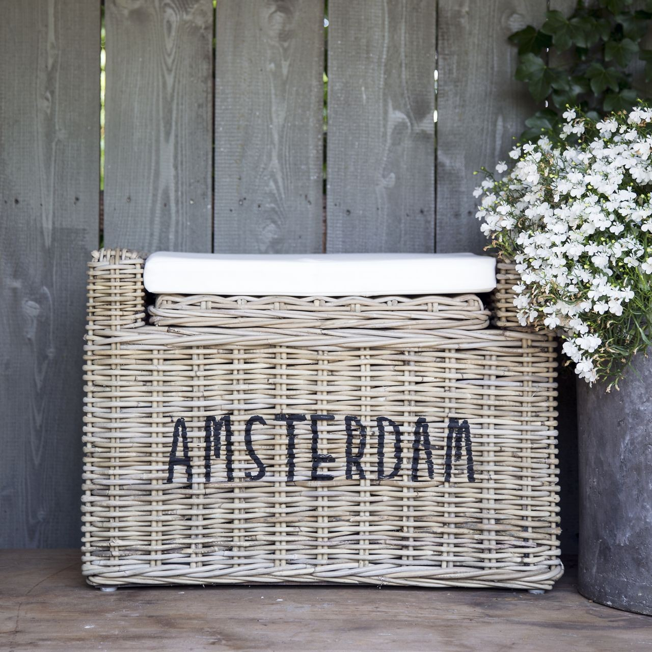 Rieten bank 'Amsterdam'