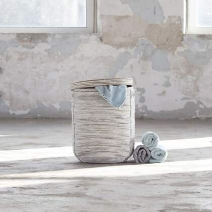 wasmand Stripe white wash (middel)