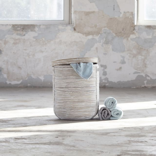 wasmand Stripe white wash (middel)