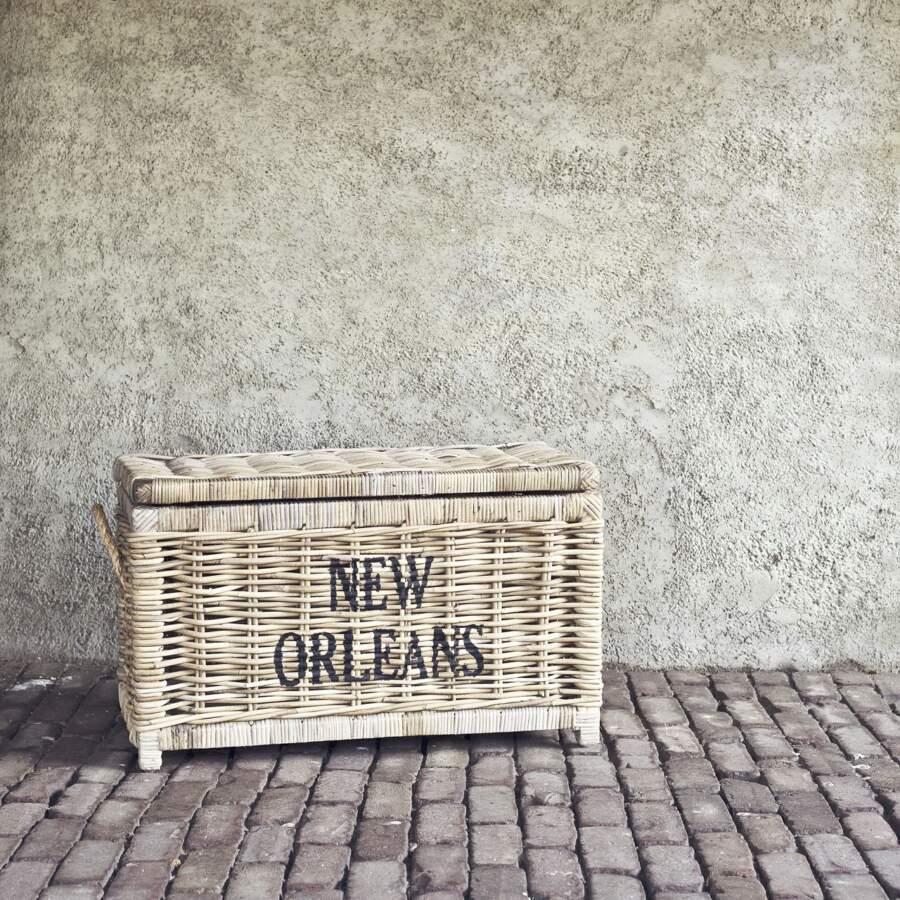 Rotan opbergmand New Orleans klein