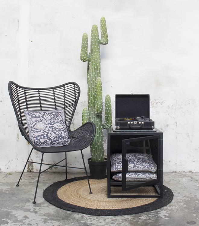 Egg-Chair-Rotan-Zwart-8816950