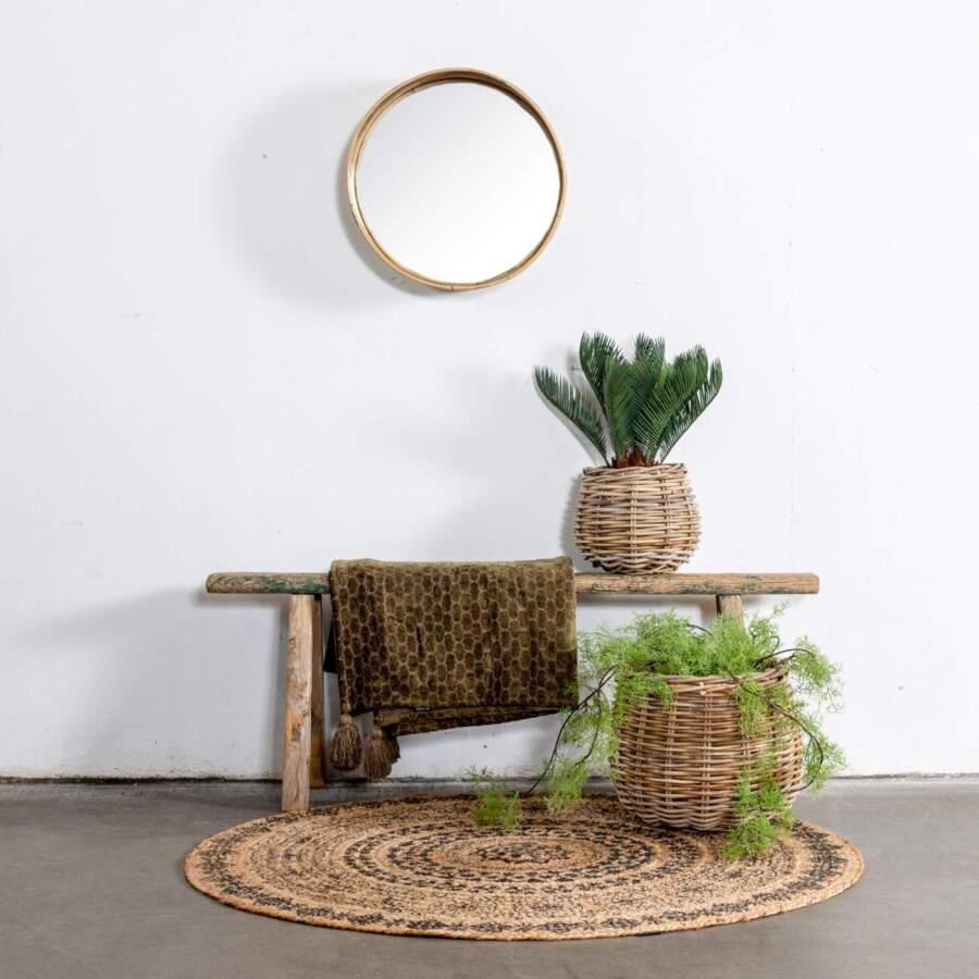 Mirror_Round_Stripe_Grey_D45H15cm_Sfeer_302219