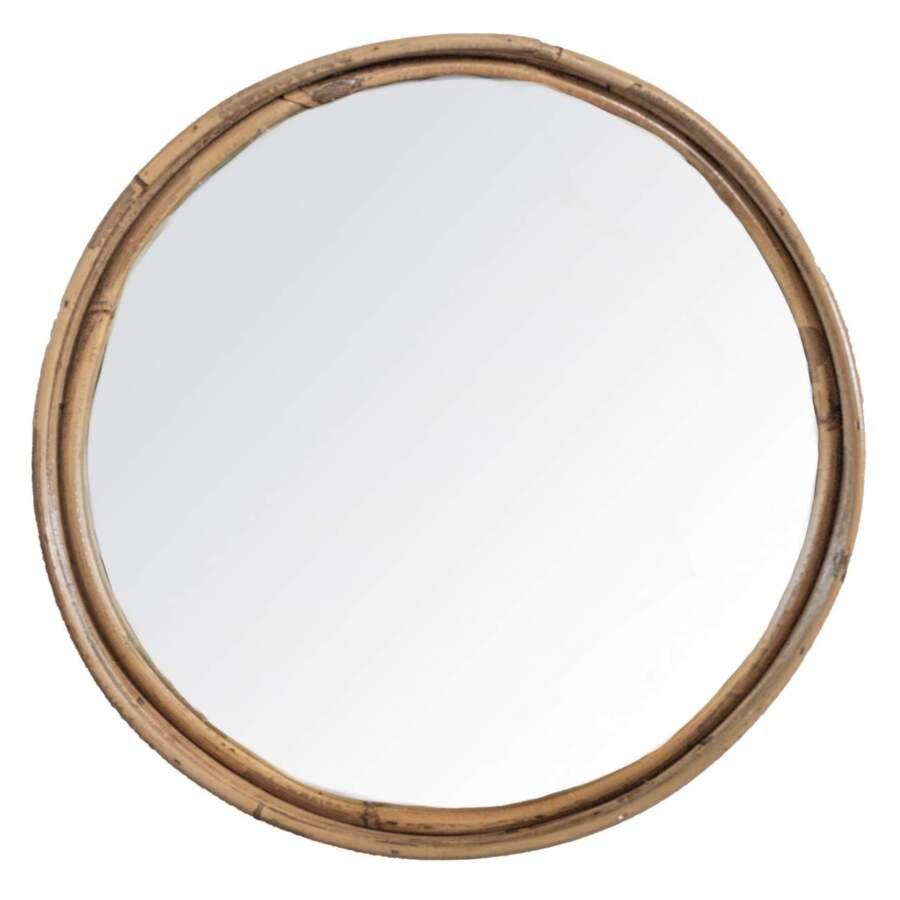 Stripe_Mirror_Rattan_Gray_D30H5cm_voor_302250
