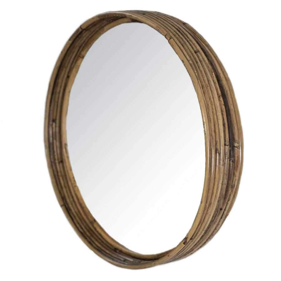 Stripe_Mirror_Rattan_Gray_D30H5cm_zij_302250